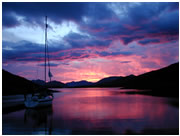 Back Pier at Sunset -  Ballachulish Scotland